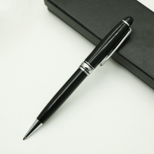 mon  black ballpoint pen  rotating pen blanc 163 pen  Company advertising gift hotel guest house pen heavy metal good writing