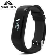 Makibes P1 Bluetooth Smart Bracelet IP67 Waterproof Smart Band Blood Pressure Heart Rate Monitor Call Message Alert Double Color