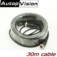 30M Audio Video Power Camera Cable BNC RCA 4-PIN aviation CCTV Cable CCTV Camera Cable(China)