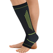 new style simple elasticity sports safety series green stripe lengthened ankle support ST2567(China)