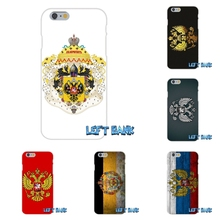 Enjoy Russian coat of arms Flag Soft Silicone TPU Transparent Cover Case For iPhone 4 4S 5 5S 5C SE 6 6S 7 Plus
