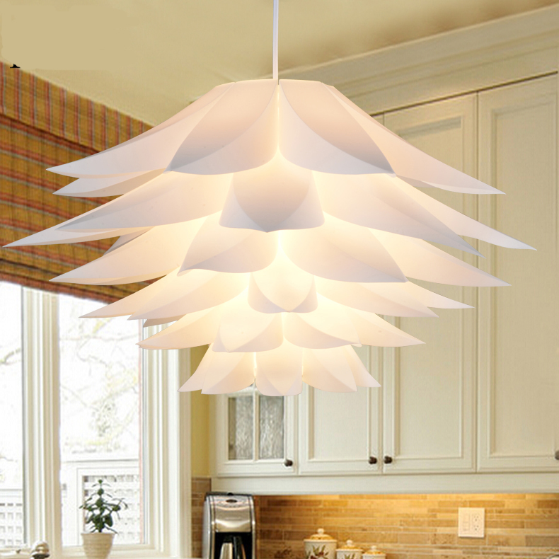 Lily Flower Pendant Light Material Of PVC Lotus Shape Fixture Pendent DIY Lampshade Bedroom / Shops LED Hanging Lamp<br>