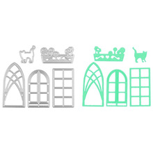 Window Door Cat Dog Die Cutting Template Cutting Dies Stencils For DIY Scrapbooking Album Paper Card Craft