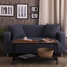 Universal Sofa Cover Thicken Warm Plush Slipcover Elastic Sofa Cover Corner Couch Cover for Autumn Winter 1/2/3/4-Seater(China)