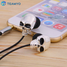 Teamyo Unique Design 3.5mm In-Ear Earphone Stereo High Performance Wired Metal Skull Earphones Headset earphone For Mobile Phone