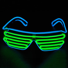 Sale 3 Modes Flashing EL LED Glasses Luminous Party Lighting Colorful glasses Glowing Classic Toys For Dance DJ, Party(China)
