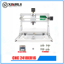 CNC 2418+ER11 spindle GRBL DIY CNC laser machine,work area 24x18x4.5cm,3 Axis Pcb Milling Machine, Wood Router,Pvc Mill Engraver(China)