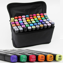 60PCS Touch Marker Pen Set Animation Drawing Art Oily Alcoholic Dual Headed Sketch Marker Graphic Manga Design Drafting Supplies