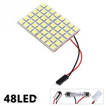 48 SMD 5050 Panel Bright 48 led panel 12v T10 W5W festoon Dome LED Bulb Lamp interior lighting auto parking car light(China)
