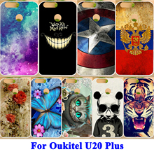 AKABEILA Soft TPU Mobile Phone Cases For Oukitel U20 Plus 5.5inch Case Cover Painted Cute Animal Patterns Shield Smartphone Hood(China)