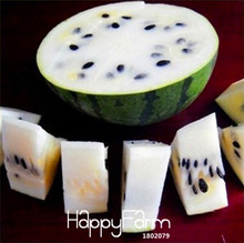 New Fresh Seeds 30 Pieces/Lot Seeds Rare White Watermelon Seeds Super Big Water Melon Seeds for Home & Garden,#QNPD85