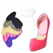 Orthopedic Insole 2016 New T-Shape Silicone Non Slip Cushion Foot Heel Protector Liner Shoe Insole Pads(China)