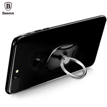 Baseus Universal Phone Ring Holder Stand 360 Degree Luxury Mobile Phone Finger Ring Holder For iPhone 7 6 Samsung Tablet