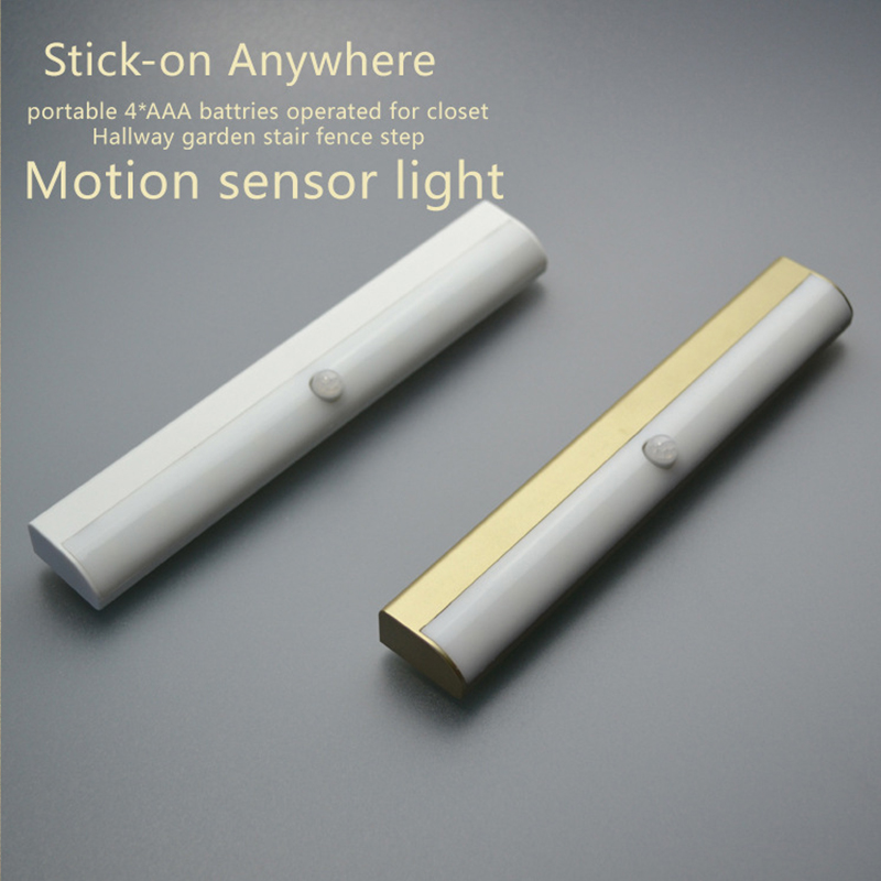 FRLED 10LEDs LED Cabinet Light IR Infrared Motion Detector Sensor Closet Night Light Lamp Induction Wardrobe Step Lights Bar(China)
