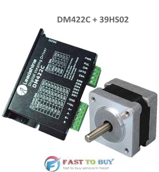 Leadshine NEMA16 39mm 31.2ozin 0.22NM 18-40VDC 2phase Stepper motor Drive kits 39HS02+DM422C NEW<br><br>Aliexpress