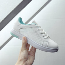 hot sale 2017 spring summer new women running shoes hollow breathable students wild sport ladies shoes Korean small white shoes
