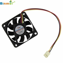 Hot-sale BINMER 60mm Computer PC CPU Cooling Fan 12v 3 Pin Computer Case Cooler Quiet Molex Connector For Computer 1 pc