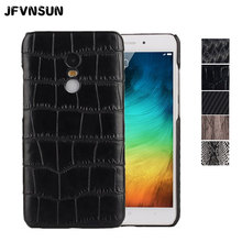 Redmi Note 4X Case Crocodile Leather Hard Case for Xiaomi Redmi Note 4X 16gb/32gb Cover Fashion Snake Wood Skin Protective Shell(China)