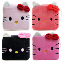 2017 Hello Kitty Women Coin Wallets Cartoon Female Zipper Storage Bags Children Mini Bags Cute Coin Purses