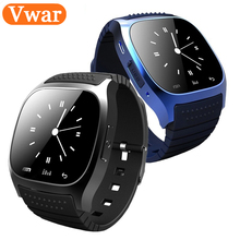 Vwar M26 Bluetooth Smart Watch with LED Display Barometer Alitmeter Music Player Pedometer for Android IOS Mobile Phone VS DZ09(China)