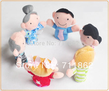 ship by EMS free Family Finger puppet  Cloth toy Baby stories helper doll 6 design Christmas