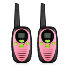 2pcs Portable Children Walkie Talkies Toy 2-way Radio 8 Channels 3KM Range Belt Clip Kids Mini Handheld Toys Walkie Talkie