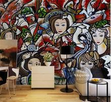 3d wallpaper custom photo non-woven mural Wall sticker hand-painted Drawing cartoon image painting 3d wall room murals wallpaper