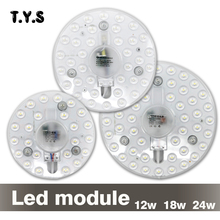 LED Bulb 12w 18w 24w SMD 2835 LED 220V Panel Light Modern Ceiling Lamp Led Downlight Driver Led Wall Lamp Energy Saving Module(China)