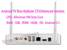 Kaiboer C9 Chinese language Android TV Box Allwinner H8 Octa Core 1GB/16GB FHD H.265 Metal Shell TV Network Media Player Kodi(China)