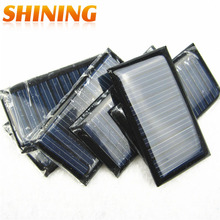 20pcs/lot 53*30mm Size Solar Cell Panel Module 5V 30MA Small Mini Power Solar Panels For Solar Lights DIY Study Solar Toy Use