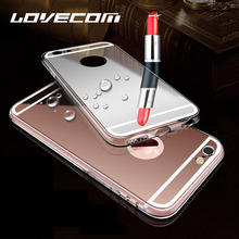LOVECOM Ultra Slim Shine Luxury Mirror Soft TPU Phone Cases Accessories For Samsung Galaxy J330 J530 J730 2017 Back Cover