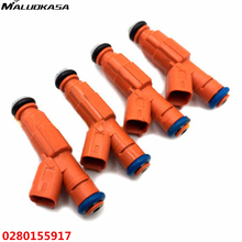 MALUOKASA 4Pcs Car Fuel Injector For Bosch Upgrade/ Jeep Cherokee 1999 4.0L EV6 Set 6 19LB 0280155917 High Flow Auto Replacement(China)