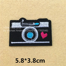 1Pc Cute Camera Embroidered Patch Iron on Sewing Applique Clothes Shoes Bags Decoration Patch Apparel DIY Sewing Accessories