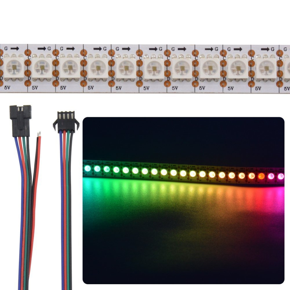 5M WS2818 Similar WS2811 RGB LED Streifen Strip 30-96LEDS//M Dual Signal DC12V