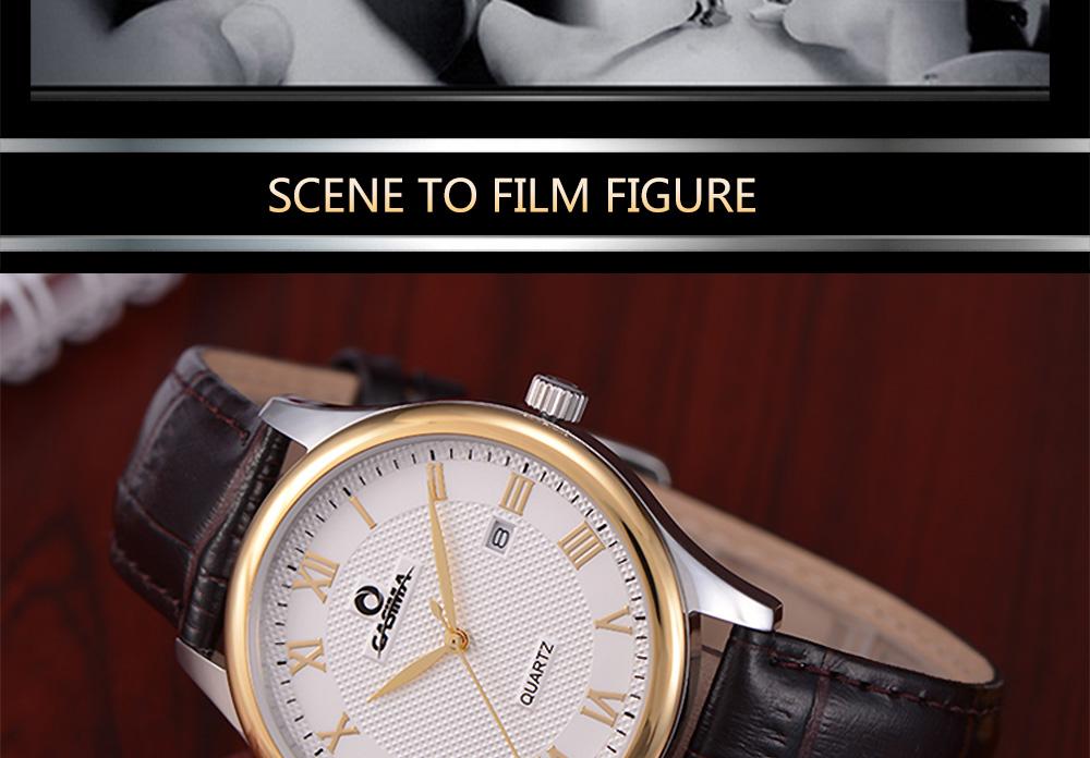 ساعة يد رجالية جلد 9