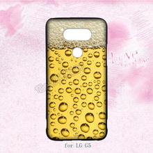 a glass of beer cool summer hard transparent plastic cell phone cases for LG G2 G3 G4 G5 cover case