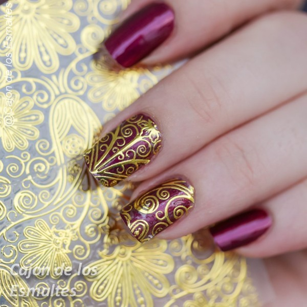 1 Sheet Embossed Flower 3D Nail Stickers Blooming 3D Nail Art Stickers Decals