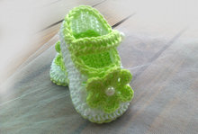 Handmade lovely croceht  infant  botties gifts baby crocheted shoes Baby boots, White Newborn