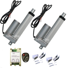 "Set of 2 Heavy Duty 100mm 4"" Stroke 150KG Load 330lbs DC 12V Linear Actuators &Mounting Brackets &Wireless Remote Control System"