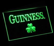 jb-62 Guinness Shamrock logo beer bar pub club 3d signs LED Neon Light Sign home decor crafts(China)