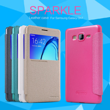 "10pcs/lot Wholesale NILLKIN Sparkle Leather Case For Samsung Galaxy On7/G6000/G600/GALAXY O7 5.5"" Pearly Colorful Cover Case(China)"