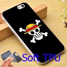 One Piece Straw Hat Pirate Flag TPU Phone Case for iPhone 5S 5 SE 5C 4 4S 6 6S 7 Plus Cover ( Soft TPU / Hard Plastic )