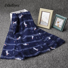 jzhifiyer cats scarf music note G-Clefs hijab for womens viscose scaves muslim shawls bandana  feminino inverno pareo beach