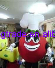 Hot sale 2017 Cartoon Character Adult cute tomato pizza Mascot Costume Fancy Dress Halloween party costume(China)