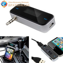 LCD Backlight Display Wireless Music to Car Radio FM Transmitter For 3.5mm MP3 iPod Phones Mobile phone Tablets
