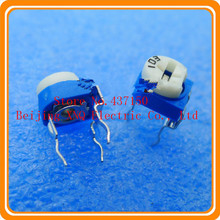 100 ohm 101 RM065 horizontal blue and white adjustable resistance
