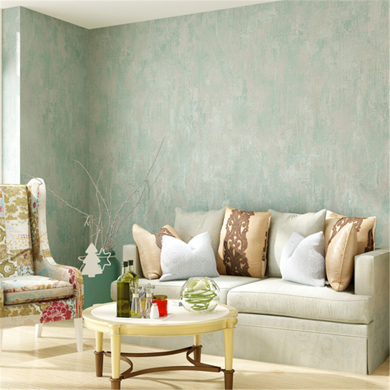 beibehang American - style wallpaper to do the old plain wallpaper khaki color living room clothing store papel de parede<br>
