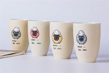 Thank You Creative Gift Sheep Mug, Cute Mug Gift Friend Gift, Ceramic Coffee Milk Tea Water Mug(China)