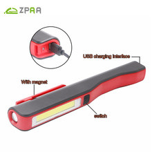 ZPAA COB LED Work Light Mini Portable Pocket Inspection Lamp with Magnetic Clip for Emergency Inspection, Camping, Household(China)