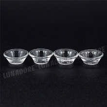 Odoria 1:12 Miniature 4PCS Clear Bowl For Dining Tableware Kit Dollhouse Kitchen Accessories